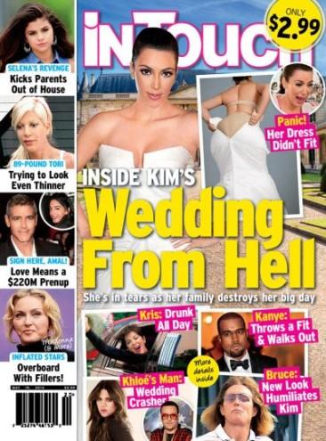 Kim Kardashian Wedding Dress, Butt Photo: THEY'RE FAKE!