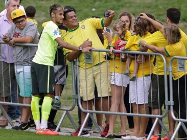 Photos of Players taking World Cup Selfies