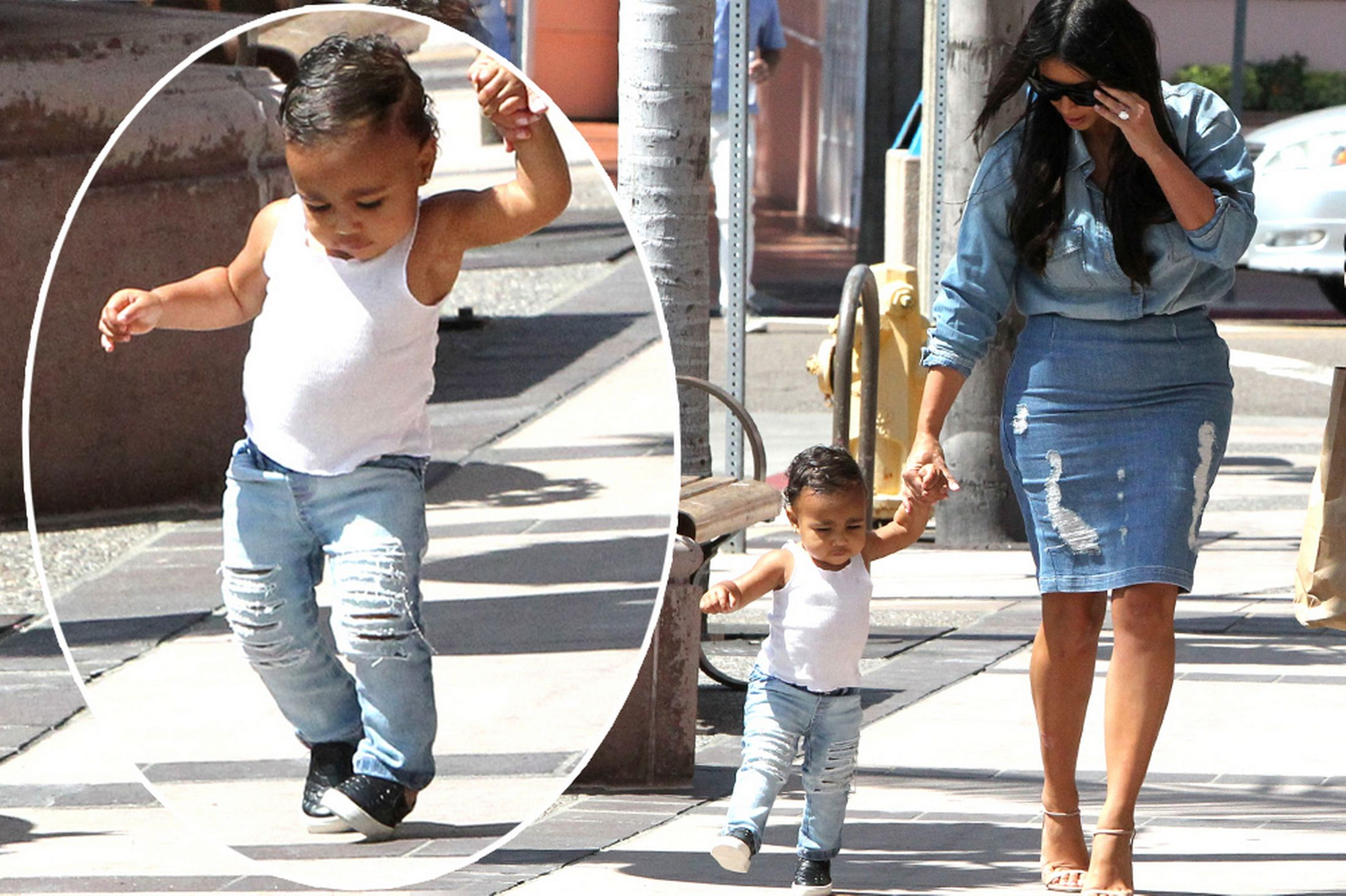 more photos of the stylish baby with her hot momma