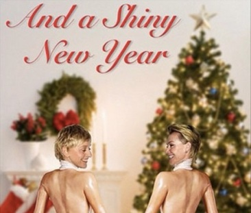 Ellen And Portia's Christmas Card Is Based On Kim K's Paper Mag Shoot