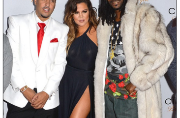 Khloe K's boobs make an appearance at Moroccan BF French Montana's bday bash