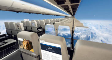 Experience A Complete Panorama Of The Sky, All From Inside A Plane.